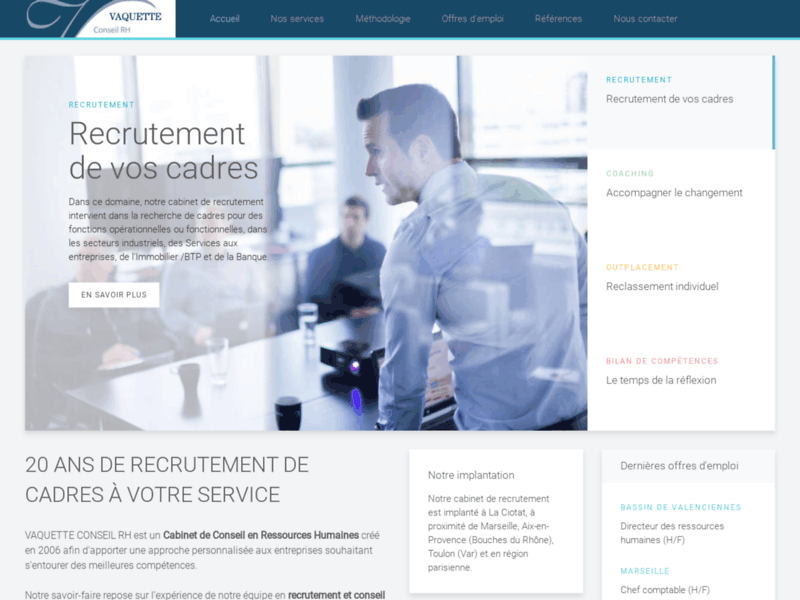 Screenshot du site : Cabinet de recrutement près de Marseille (13)