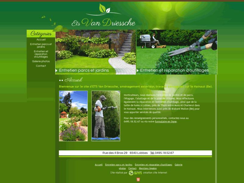 Ets Van Driessche : Tonte de pelouse et taille de haies sur le Hainaut