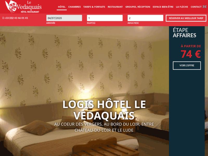 Le Védaquais, votre hôtel-restaurant sur la route des Châteaux de la Loire