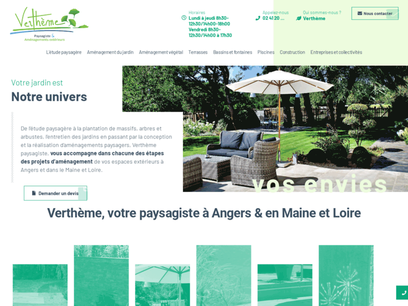 Entreprise paysagiste Angers