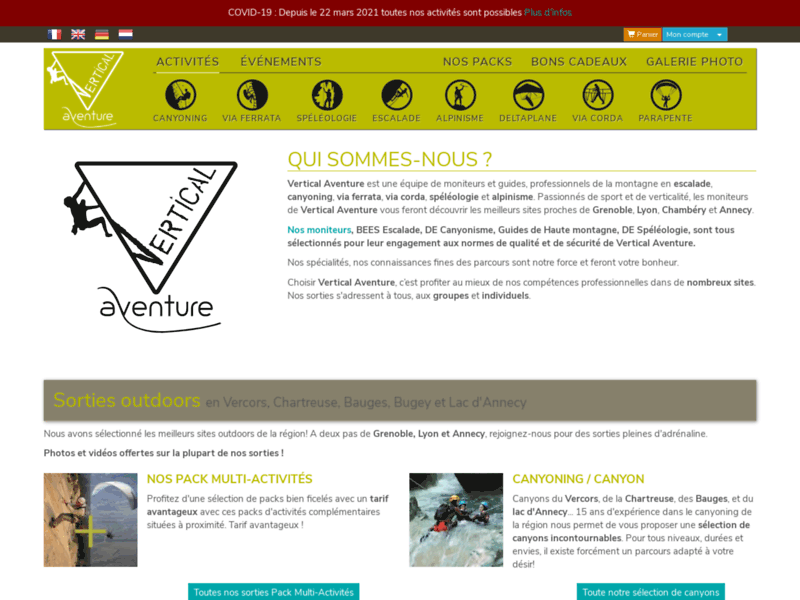 Vertical Aventure, sorties de canyoning, via ferrata et d'escalade