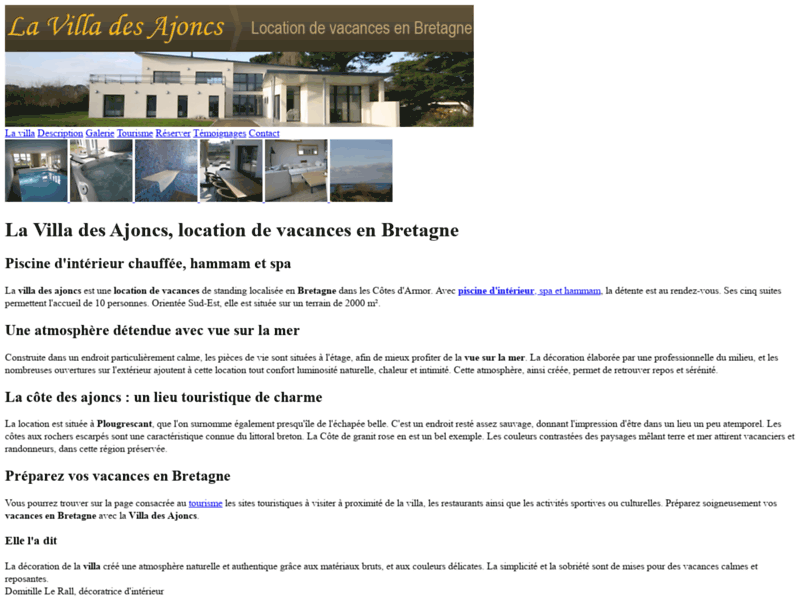 La Villa des Ajoncs, location de vacances en Bretagne