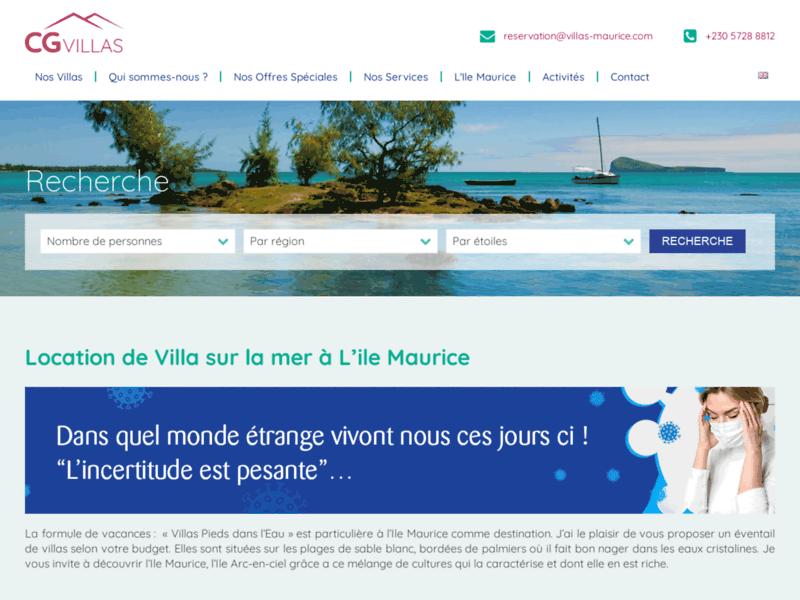 Location de villas à l'île Maurice avec CG Villas