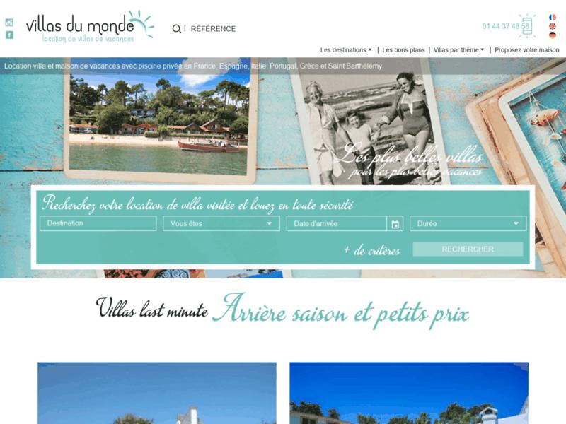 Villas du Monde, location de villas de vacances dans le monde