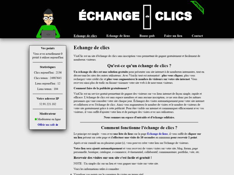 Echange de clic - VisiClic
