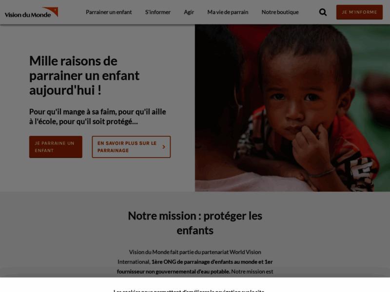 Vision du monde - campagnes et actions de parrainage enfant pauvre