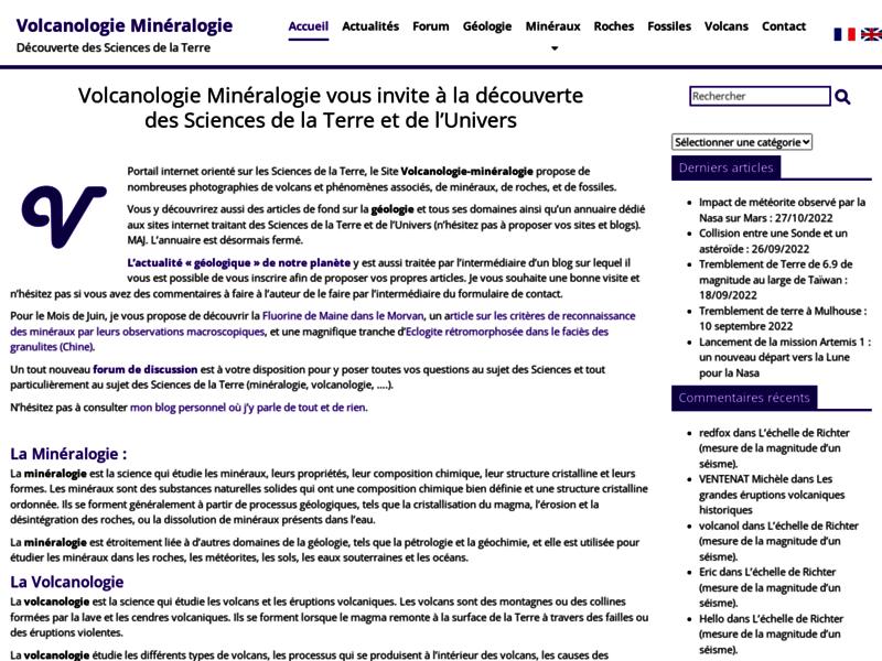 Volcanologie Minéralogie, Minéraux et volcans