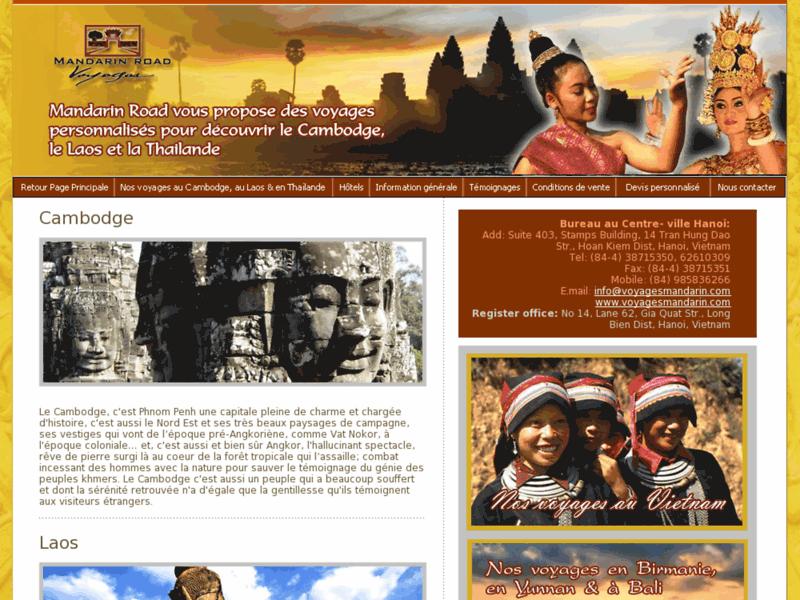 Le Cambodge et le Laos avec Mandarin Road