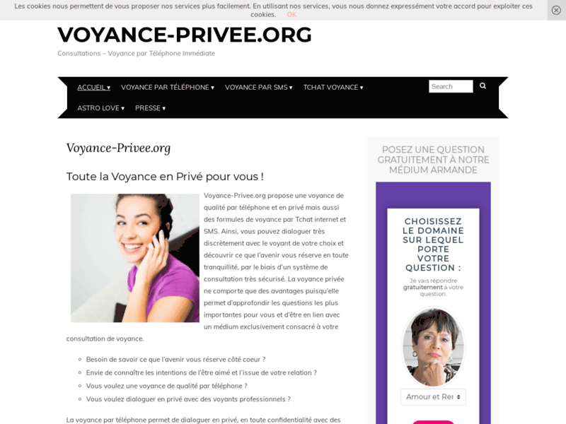Screenshot du site : La Voyance Privée