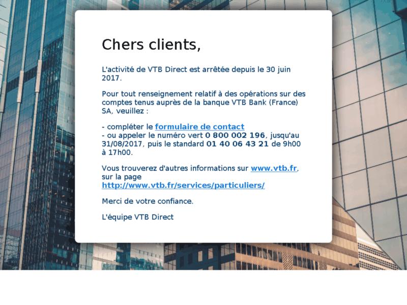 Epargne et Compte à Terme VTB Direct