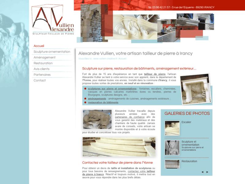 Tailleur de pierre à Irancy dans l'Yonne