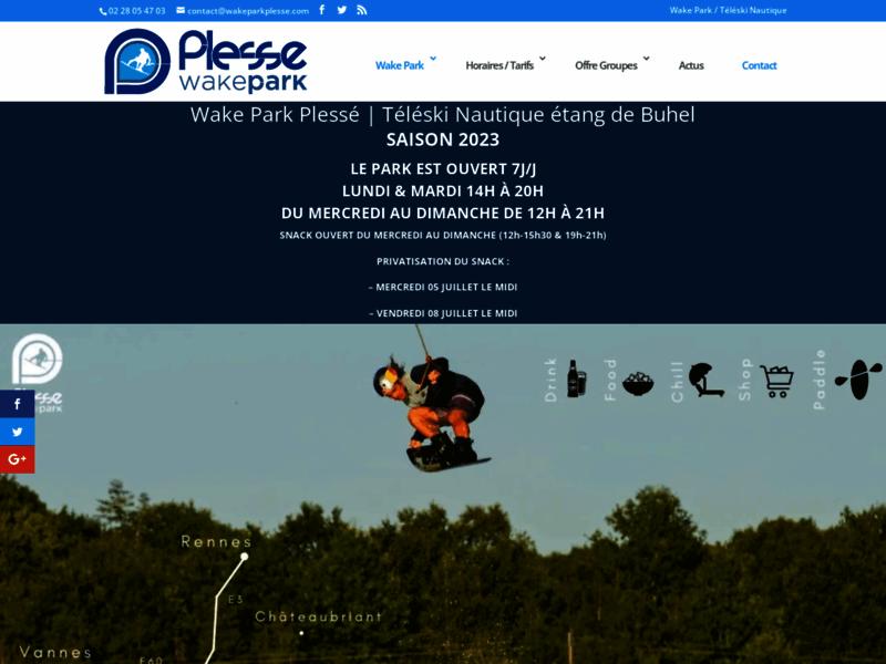 Wake Park Plessé - Téléski nautique : wakeboard et ski nautique - Loire Atlantique