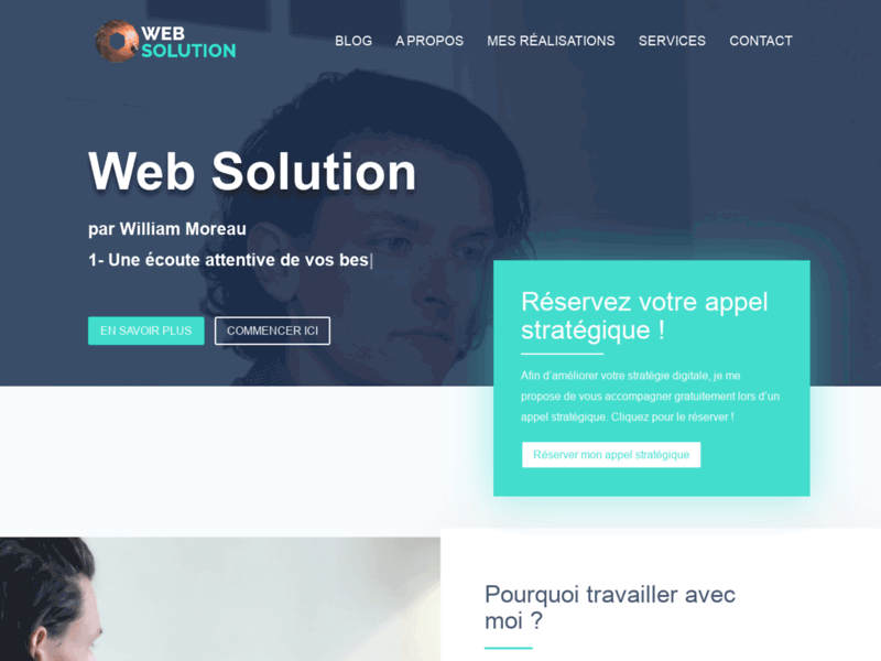 Screenshot du site : Web Solution