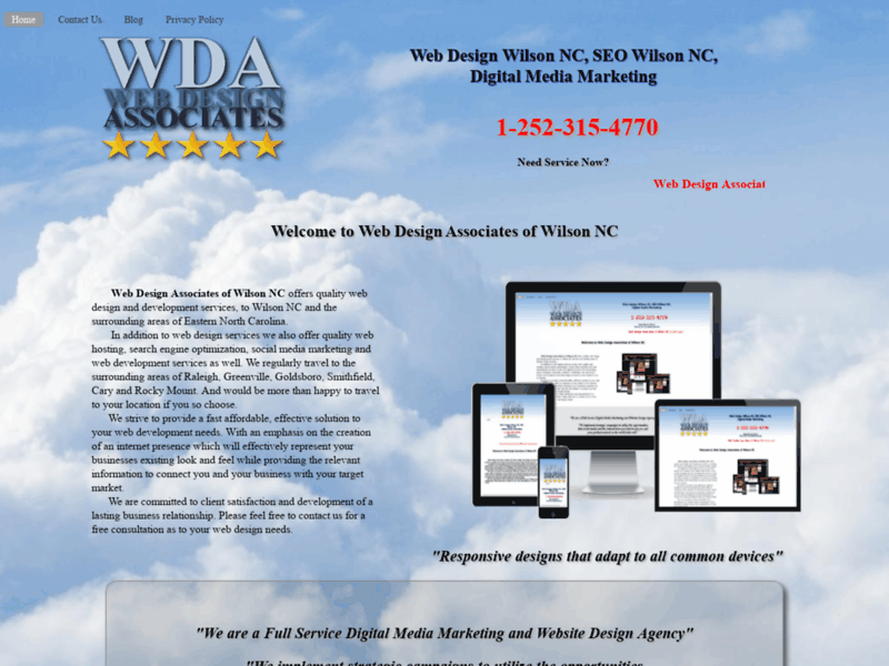 Website's screenshot : Web Design Associates of Wilson NC