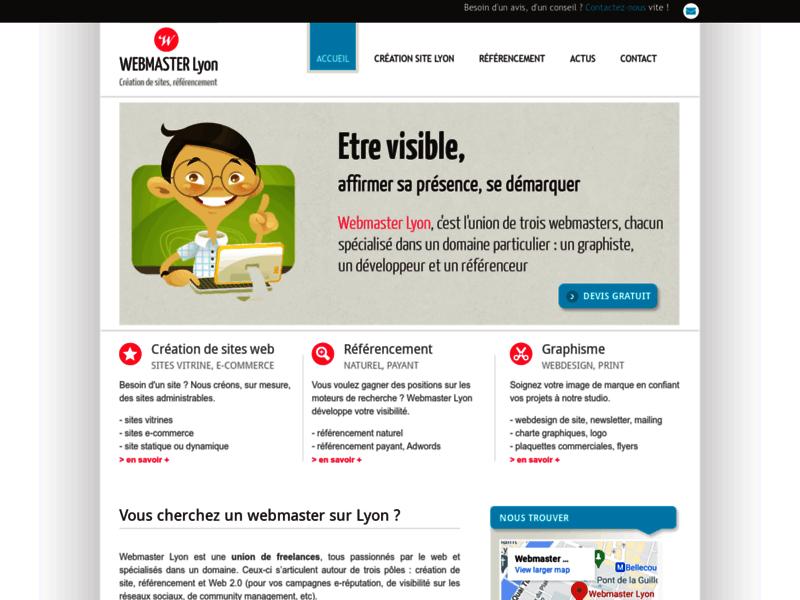 Webmaster Lyon - création de site web
