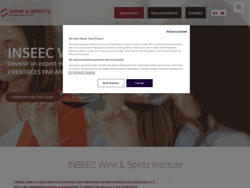 L'INSEEC Wine & Spirits Institute