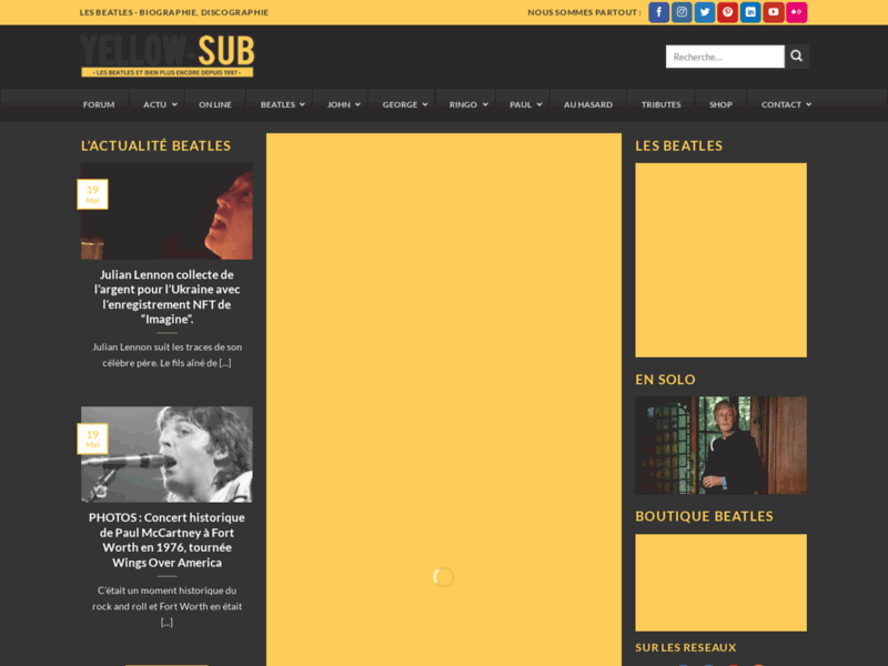 Yellow-sub.net : la vie et l'oeuvre des Beatles