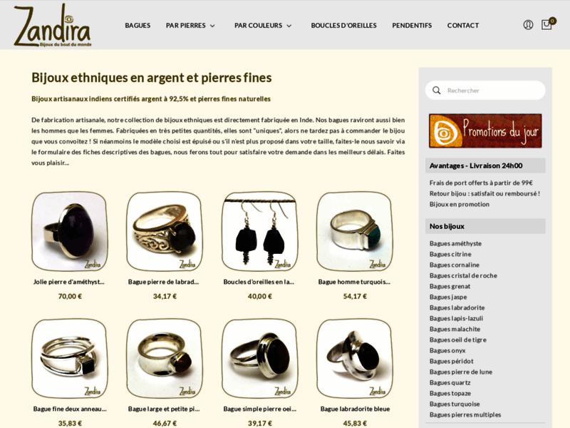 Vente de bijoux en argent